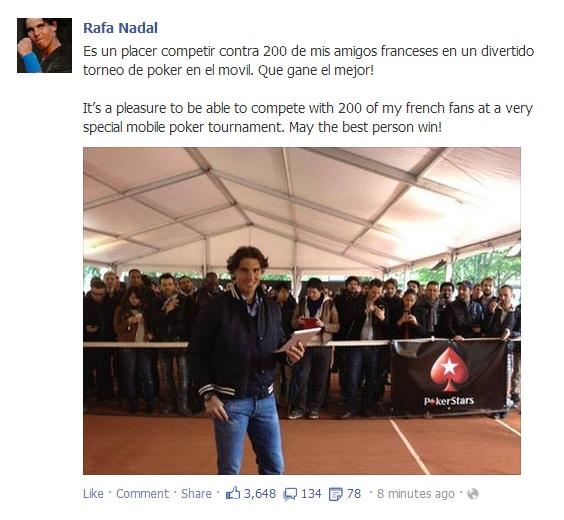 Rafael Nadal's Facebook May 24 2013 III