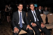 Professional tennis players Novak Djokovic (L) and Rafael Nadal attend the ATP Heritage Celebration at The Waldorf=Astoria on August 23, 2013 in New York City. // Getty Images North America