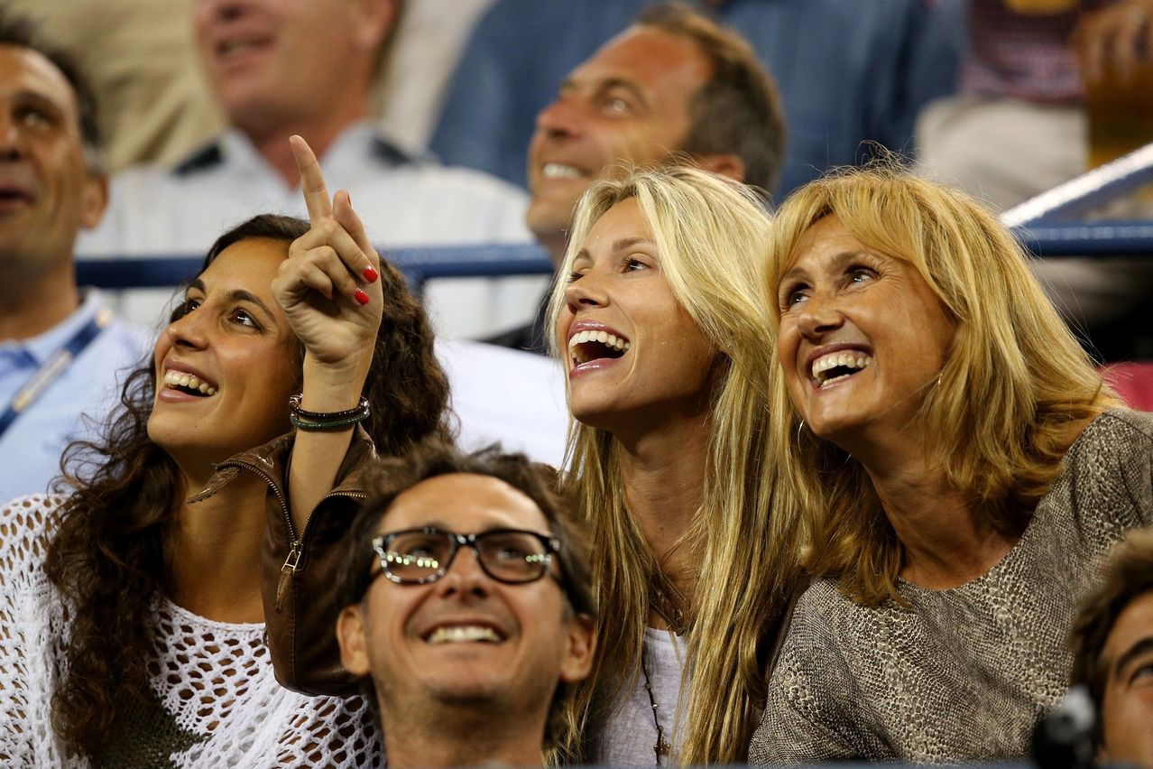 Maria Francisca Perello cheers on Rafael Nadal in New York