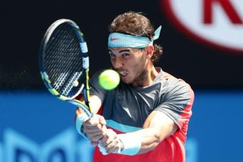 Rafa Nadal Kei Nishikori R4 Australian Open 4 Matt King Getty