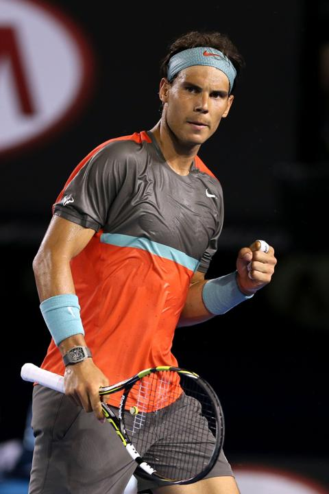 Photos: Rafael Nadal reaches R2 at Australian Open ... Nadal 2014 Australian Open Outfit