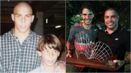 Little kid Rafael Nadal and Ronaldo