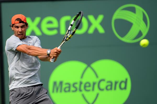 Nadal entrenó antes de la final ATP Miami 2014 contra Djokovic