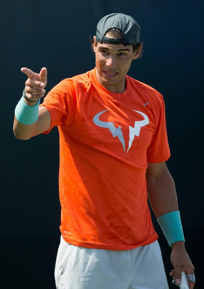 Nadal y Ferrer entrenando juntos en Miami 2014