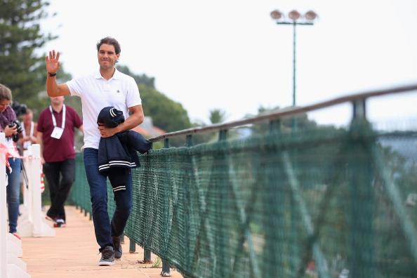 Rafa Nadal en Montecarlo con los medios de prensa