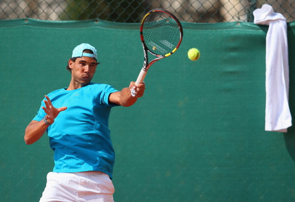 Rafa Nadal en entrenamiento Lunes Masters Montecarlo 2014