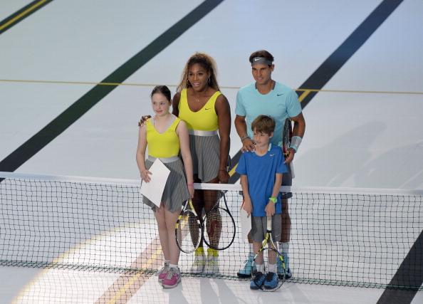 ¿Cuánto mide Serena Williams? - Altura - Real height Rafael-nadal-serena-williams-nike-event-paris-2014-7