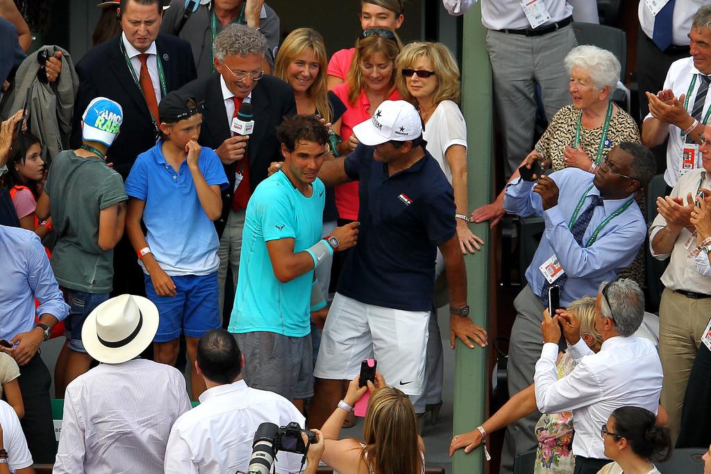 Rafael Nadal is congra...