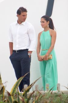 Rafael Nadal and his girlfriend Maria Francisca Perello at Friends' Wedding (15)