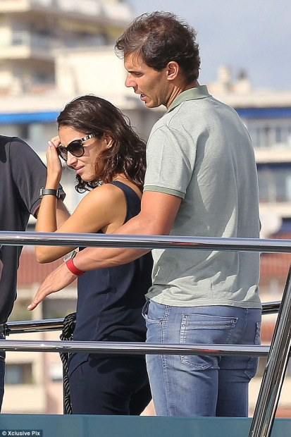 Rafael Nadal and his girlfriend Maria Francisca Perello in Cannes France (1)