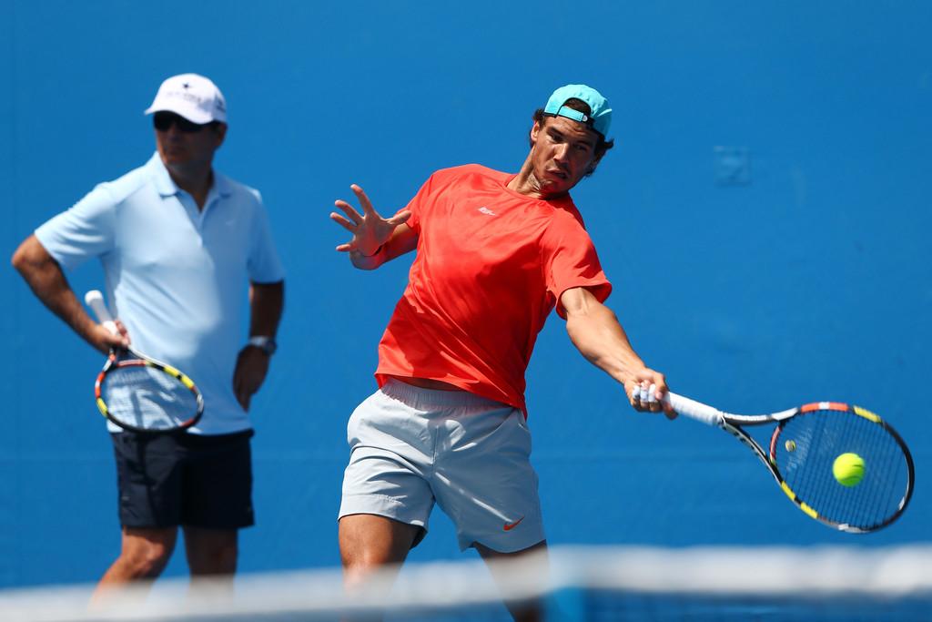 Rafael Nadal News: PHOTOS: Rafael Nadal Practices Ahead Of R4 Match