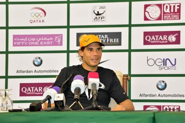 Nadal chats to the press ahead of the 2015 Qatar Open (via Atp World Tour)