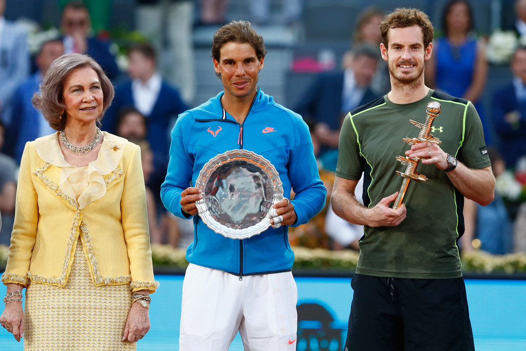 ¿Cuánto mide Andy Murray? - Altura - Real height Nadal-and-murray-pose-with-queen-sofia-at-madrid-open-2015
