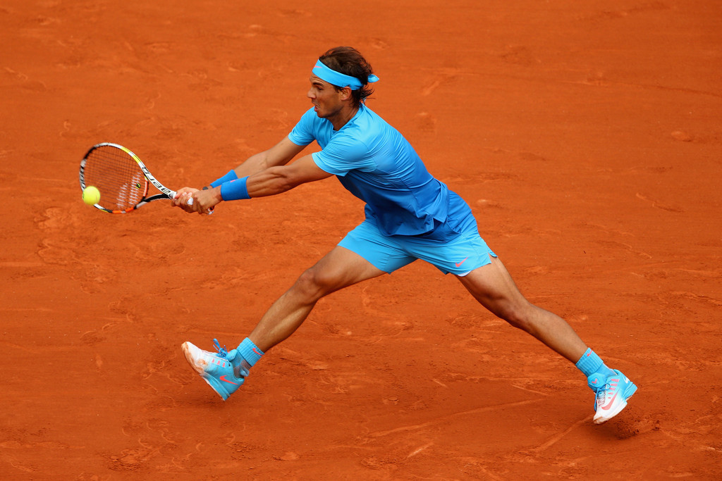 rafael nadal in actio against quentin halys at roland garros 2015 4 rafael nadal fans. Black Bedroom Furniture Sets. Home Design Ideas