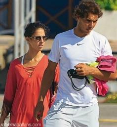 Rafael Nadal con su novia Maria Francisca Perello