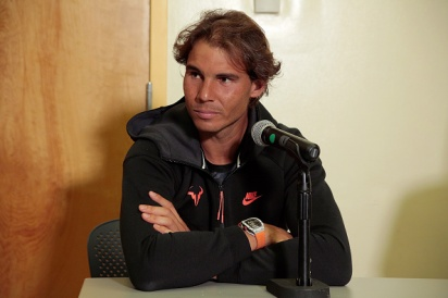 NEW YORK, NY - AUGUST 26: 14 time Grand Slam Winner Rafael Nadal during the press conference at Randall's Island on August 26, 2015 in New York City. (Photo by Randy Brooke/Getty Images)
