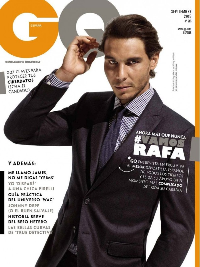 Rafael Nadal on the cover of GQ Spain magazine September 2015