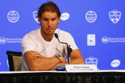 Rafael Nadal of Spain addresses the media in a press conference during Day 3 of the Western & Southern Open at the Linder Family Tennis Center on August 17, 2015 in Cincinnati, Ohio. (Aug. 16, 2015 - Source: Maddie Meyer/Getty Images North America)