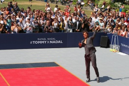 attends the Tommy Hilfiger and Rafael Nadal Global Brand Ambassadorship Launch at Bryant Park on August 25, 2015 in New York City.