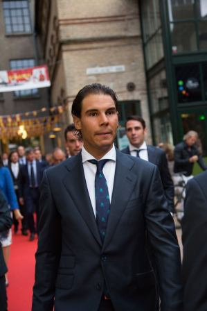 Rafael Nadal Poses Before Davis Cup Dinner (2)