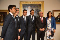 Rafael Nadal Poses Before Davis Cup Dinner (6)