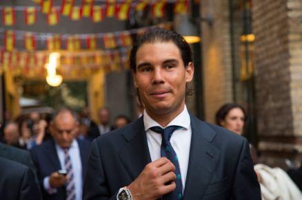 Rafael Nadal Poses Before Davis Cup Dinner (9)