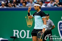 Rafael Nadal in action against Jo-Wilfried Tsonga in Shanghai Masters (1)