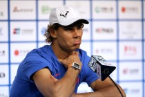 Rafael Nadal of Spain speaks to media at a press conference at the China National Tennis Centre on October 4, 2015 in Beijing, China. (Oct. 3, 2015 - Source: Emmanuel Wong/Getty Images AsiaPac)