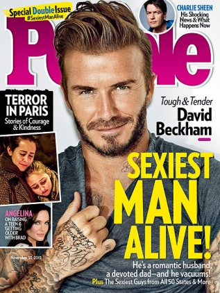 David Beckham Is PEOPLE's Sexiest Man Alive