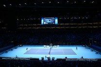 A general view during the men's singles semi final between Rafael Nadal of Spain and Novak Djokovic of Serbia on day seven of the Barclays ATP World Tour Finals at the O2 Arena on November 21, 2015 in London, England. (Nov. 20, 2015 - Source: Clive Brunskill/Getty Images Europe)
