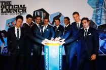 Kei Nishikori of Japan, Novak Djokovic of Serbia, Andy Murray of Great Britain, Roger Federer of Switzerland, Stan Wawrinka of Switzerland, Rafael Nadal of Spain, Tomas Berdych of Czech Republic and David Ferrer of Spain launch the Vixlet app during the Barclays ATP World Tour Finals Draw at City Hall on November 12, 2015 in London, England. (Nov. 11, 2015 - Source: Julian Finney/Getty Images Europe)