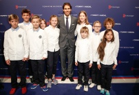 STUTTGART, GERMANY - NOVEMBER 10: Rafael Nadal with kids attends the Tommy Hilfiger X Rafael Nadal @ Breuninger on November 10, 2015 in Stuttgart, Germany. (Photo by Franziska Krug/Getty Images for Tommy Hilfiger)