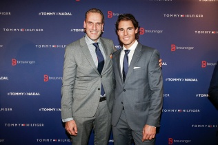 STUTTGART, GERMANY - NOVEMBER 10: Joachim Aisenbrey and Rafael Nadal attend the Tommy Hilfiger X Rafael Nadal @ Breuninger on November 10, 2015 in Stuttgart, Germany. (Photo by Franziska Krug/Getty Images for Tommy Hilfiger)
