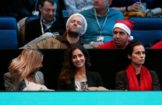 Tennis - Barclays ATP World Tour Finals - O2 Arena, London - 20/11/15 Men's Singles - Spain's Rafael Nadal girlfriend Maria Francisca Perello (C) in the crowd during his match against Spain's David Ferrer Reuters / Suzanne Plunkett Livepic EDITORIAL USE ONLY.