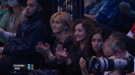 Rafael Nadal girlfriend Maria Francisca Perrello and his mother at O2 Arena in London