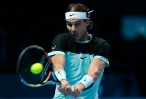 Tennis - Barclays ATP World Tour Finals - O2 Arena, London - 21/11/15 Men's Singles - Spain's Rafael Nadal in action during his match against Serbia's Novak Djokovic Reuters / Suzanne Plunkett Livepic EDITORIAL USE ONLY.