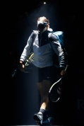 PARIS, FRANCE - NOVEMBER 06: Rafael Nadal of Spain walks out to play his match against Stan Wawrinka of Switzerland during Day 5 of the BNP Paribas Masters held at AccorHotels Arena on November 6, 2015 in Paris, France. (Photo by Dean Mouhtaropoulos/Getty Images)