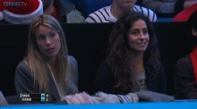 Rafael Nadal sister Isabel and girlfriend Maria Francisca Perello at ATP World Tour finals RR3 2015