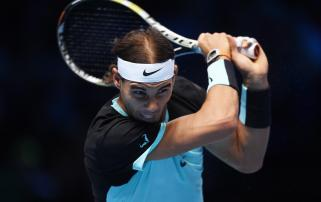 Tennis - Barclays ATP World Tour Finals - O2 Arena, London - 16/11/15 Men's Singles - Spain's Rafael Nadal in action during his match against Switzerland's Stanislas Wawrinka Action Images via Reuters / Tony O'Brien Livepic EDITORIAL USE ONLY.