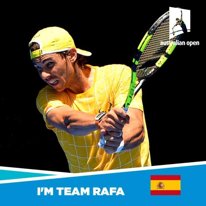 I'm Team Rafa Nadal Australian Open 2016