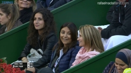 Maria Francisca Perello watches Rafael Nadal in Doha Qatar 2016