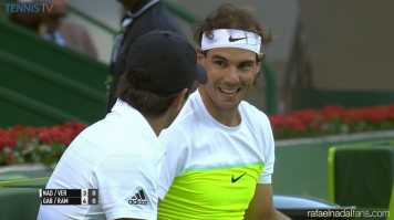Rafael Nadal drops doubles match in Doha