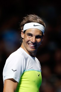 Rafael Nadal in action at Allphones Arena on January 11, 2016 in Sydney, Australia. (Jan. 10, 2016 - Source: Brendon Thorne/Getty Images AsiaPac)