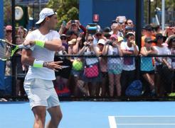 Rafael Nadal Monday practice Australian Open 2016 (6)