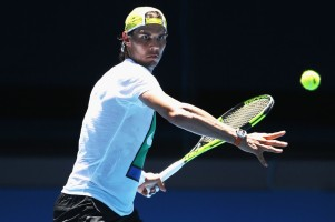 Rafael Nadal Practices Ahead of 2016 Australian Open (12)