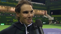 Rafael Nadal wins in Doha's first round Qatar Open 2016 (1)