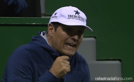 Rafa's coach and uncle Toni Nadal in Doha at Qatar Open 2016 photo
