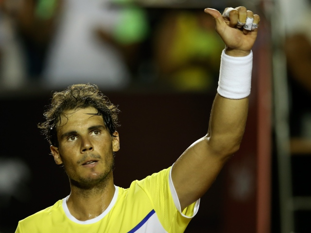 RIO DE JANEIRO, BRAZIL - FEBRUARY 18:  Rafael Nadal of Spain celebrates the victory against Nicolas Almagro of Spain during the Rio Open at Jockey Club Brasileiro on February 18, 2016 in Rio de Janeiro, Brazil.  (Photo by Buda Mendes/Getty Images)