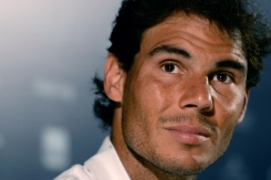 RIO DE JANEIRO, BRAZIL - FEBRUARY 15: Rafael Nadal of Spain attends a press conference during a ATP Rio Open 2016 at Jockey Club Rio de Janeiro on February 15, 2016 in Rio de Janeiro, Brazil. (Photo by Buda Mendes/Getty Images)