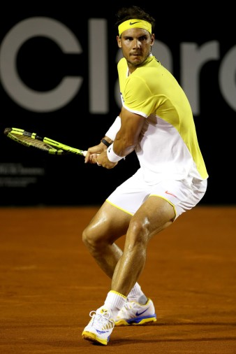 Rafael Nadal of Spain plays Palo Cuevas of Uraguay during the Rio Open at Jockey Club Brasileiro on February 20, 2016 in Rio de Janeiro, Brazil. (Feb. 19, 2016 - Source: Matthew Stockman/Getty Images South America)